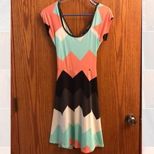Rue21 Chevron Cross-back Dress